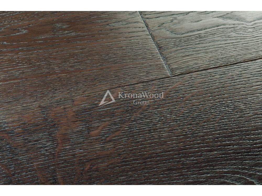 """Массивная доска Дуб """"Мокачино"""" покрытая лаком 180x20x300-1600"""