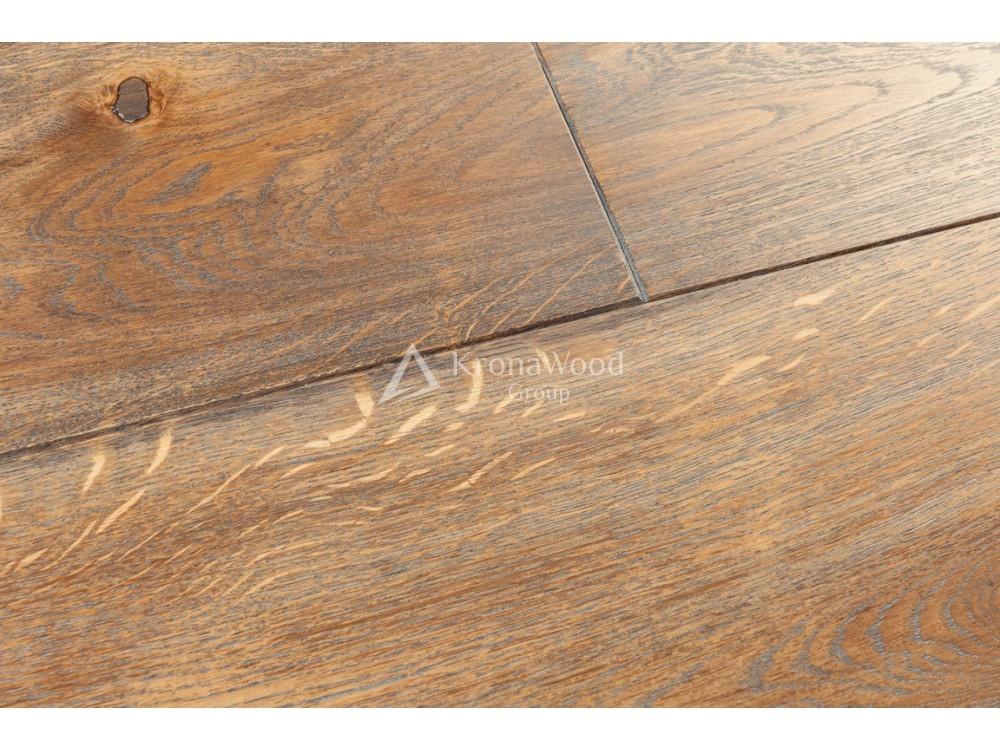 Массивная доска Дуб покрытая маслом Osmo Венге/Берёза 110х20х400-1600