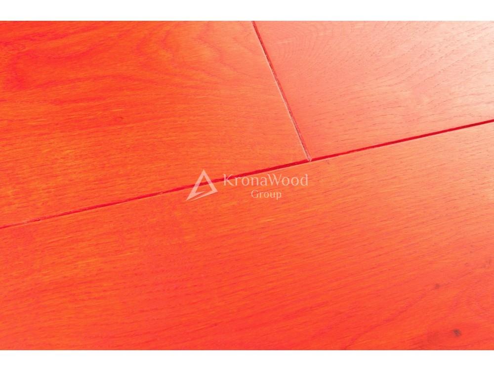 Массивная доска Дуб покрытая маслом Osmo Красный 110х20х400-1600