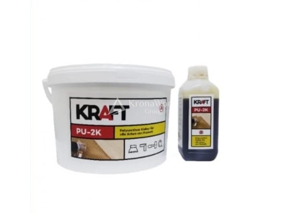 Клей паркетный полиуретановый KRAFT PU 2K 10 кг.